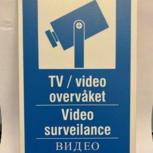 Kameraskilt 3 språk
