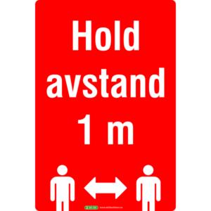 Hold avstand 30x20cm klebemerke rød